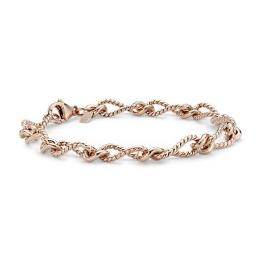 Bracelet élégant en vermeil or rose