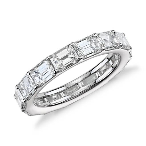 Emerald-Cut Diamond Eternity Ring in 18K White Gold (4 ct.tw)