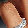 Brilliant Emerald Cut Diamond Eternity Ring in Platinum (4 ct. tw.)