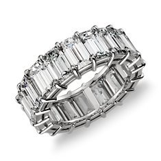 Emerald Cut Diamond Eternity Ring in Platinum (10 ct. tw.)
