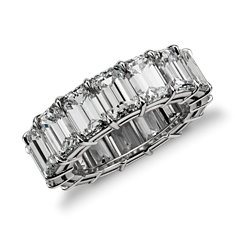 Emerald Cut Diamond Eternity Ring in Platinum (13.00 ct. tw.)