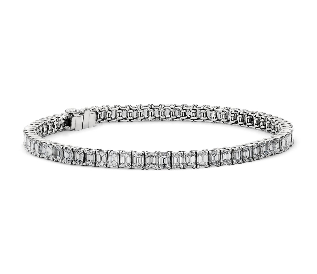 Emerald Cut Diamond Tennis Bracelet in Platinum (8.07ct tw)