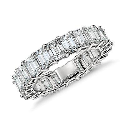 Emerald Cut Diamond Eternity Ring in Platinum (5 ct. tw.)
