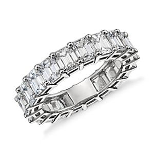 Emerald Cut Diamond Eternity Ring in Platinum (6 ct. tw.)
