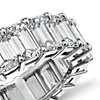 Bague d'éternité diamant taille émeraude en platine (8.95carats, poids total)