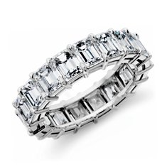 Emerald-Cut Diamond Eternity Ring in Platinum (7 ct. tw.)