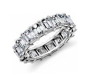 Emerald-Cut Diamond Eternity Ring in Platinum (7.5 ct. tw.)