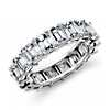 Emerald Cut Diamond Eternity Ring in Platinum (7.40 ct. tw.)
