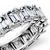 Emerald Cut Diamond Eternity Ring in Platinum (7.50 ct. tw.)