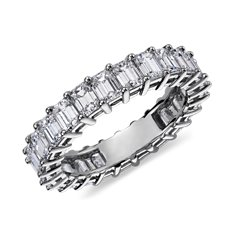 Emerald-Cut Diamond Eternity Ring in Platinum (4 ct. tw.)