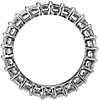 Emerald Cut Diamond Eternity Ring in Platinum (4 ct. tw.)