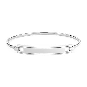 NEW Engraveable Hinge Bar Bracelet in Sterling Silver