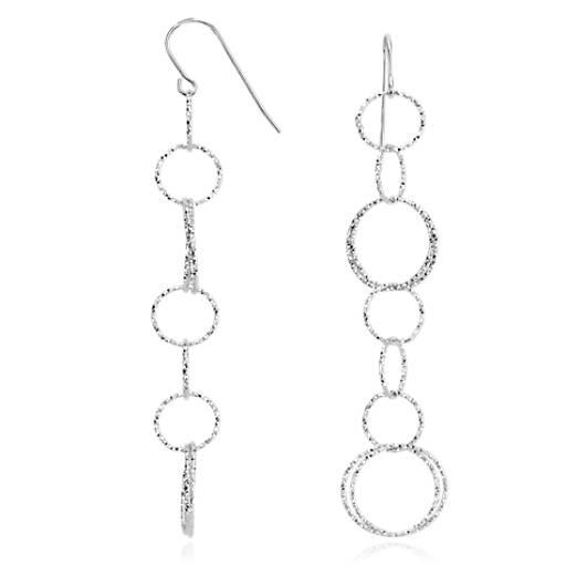 Ensemble Links Drop Earrings in Sterling Silver