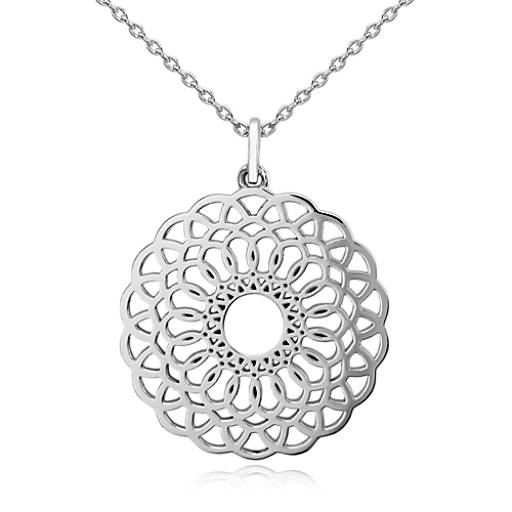 entwined medallion pendant in sterling silver blue nile