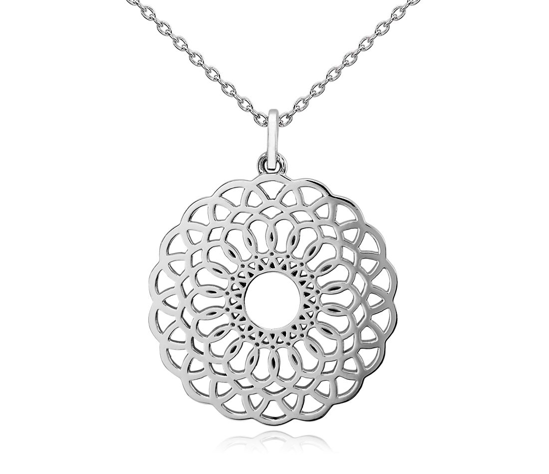 Entwined Medallion Pendant in Sterling Silver