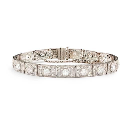 Estate Art Deco Diamond Bracelet in Platinum (5.90 ct. tw.)