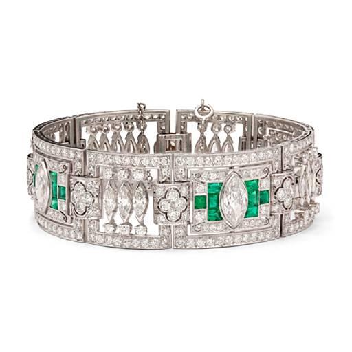 Estate Art Deco Diamond Bracelet In Platinum 5 90 Ct Tw