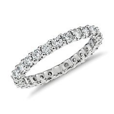 U-Claw Eternity Diamond Ring in 14k White Gold (1 ct. tw.)