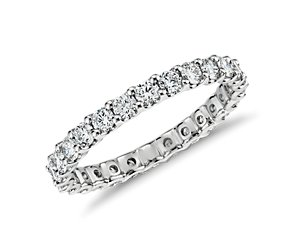 U-Prong Eternity Diamond Ring in Platinum (1 ct. tw.)