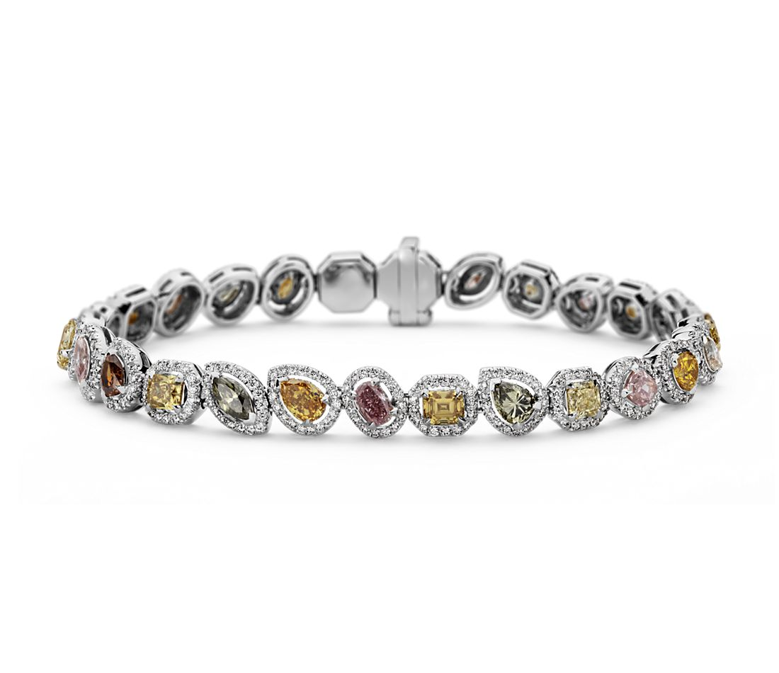Fancy Diamond Bracelet in 18k White Gold (8.26 ct. tw.)