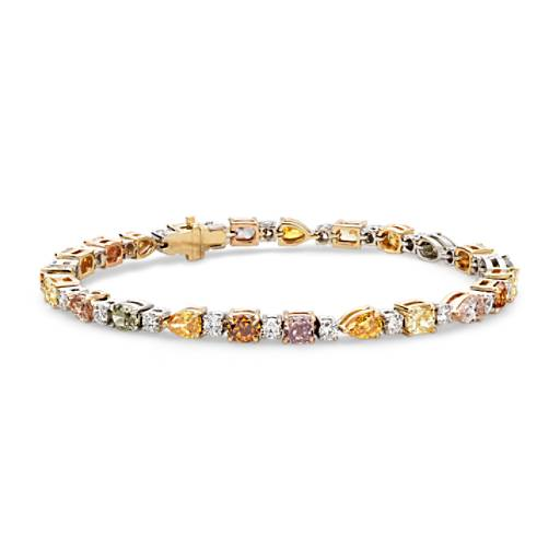 NEW Fancy Color Diamond Bracelet in 18k White Gold (8.03 ct. tw.)