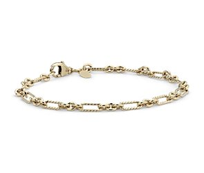 Figaro Bracelet in Yellow Gold Vermeil