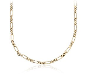 Petite Figaro Necklace in Yellow Gold Vermeil - 24