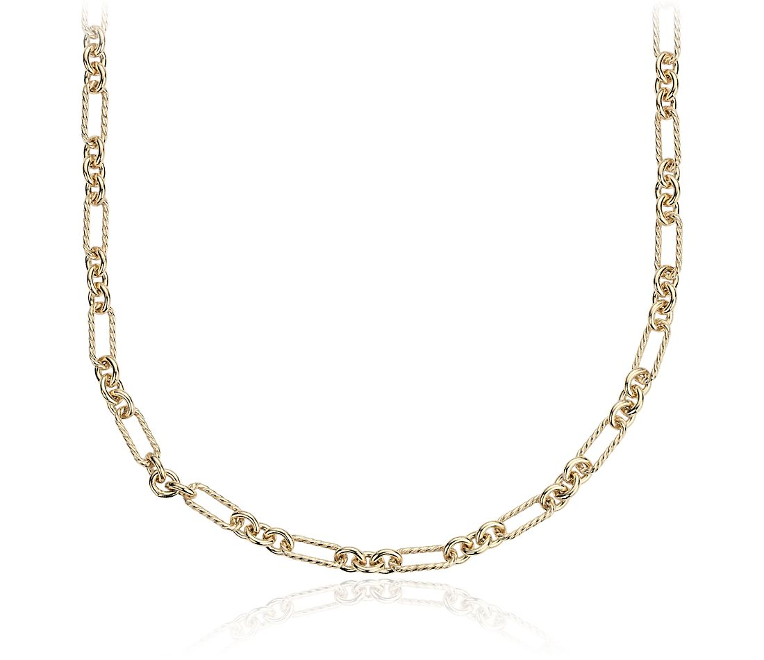 Petite Figaro Necklace in Yellow Gold Vermeil - 24""
