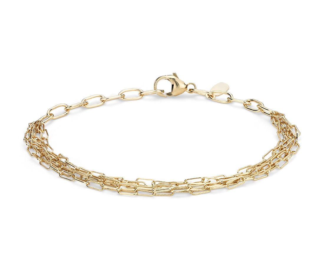 Delicate Five Row Bracelet in 14k Yellow Gold | Blue Nile