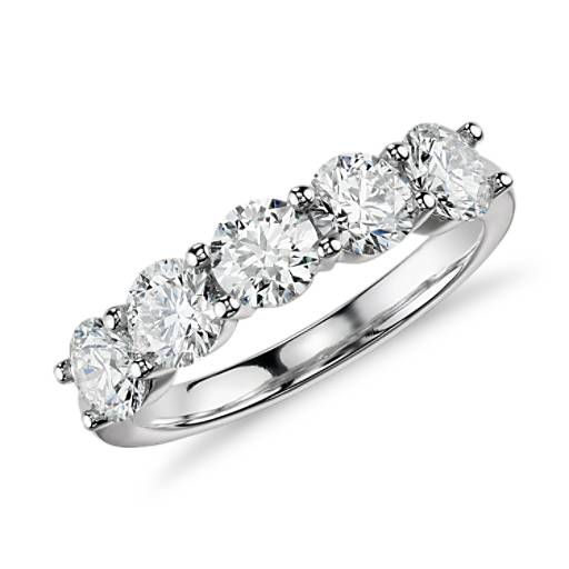 Five-Stone Diamond Ring in 14k White Gold (2 ct. tw.)