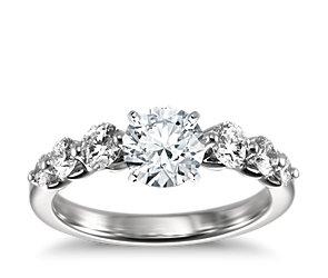 floating diamond engagement ring in platinum 3 4 ct tw blue nile. Black Bedroom Furniture Sets. Home Design Ideas