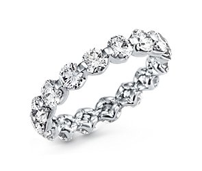 Floating Diamond Eternity Ring in Platinum (over 3 ct. tw.)