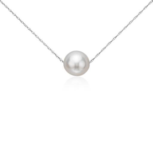 Colgante de perlas cultivadas de agua dulce en oro blanco de 14k