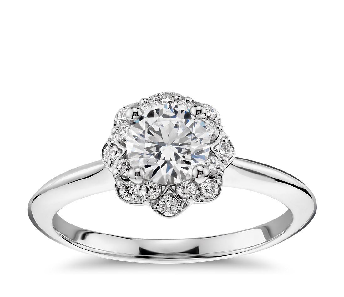 diamond ring rings halo classic diamonds engagement bercott product