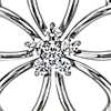 Diamond Flower Pendant in Sterling Silver (1/4 ct. tw.)