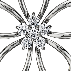 Pendentif fleur diamant en argent sterling (1/4carat, poids total)