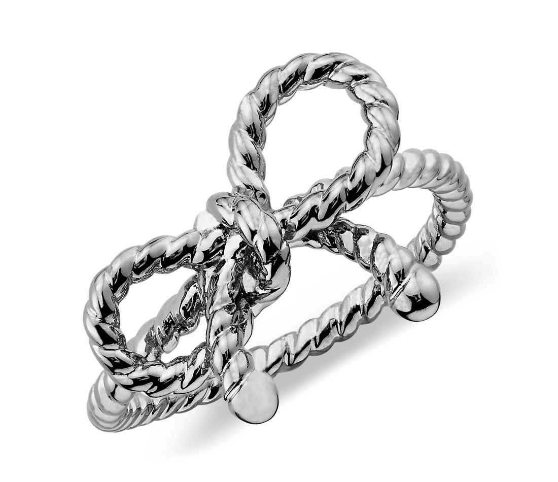 Forget-Me-Knot Ring in Sterling Silver