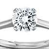 Anillo de compromiso estilo solitario Nouveau de cuatro puntas en oro blanco de 14 k