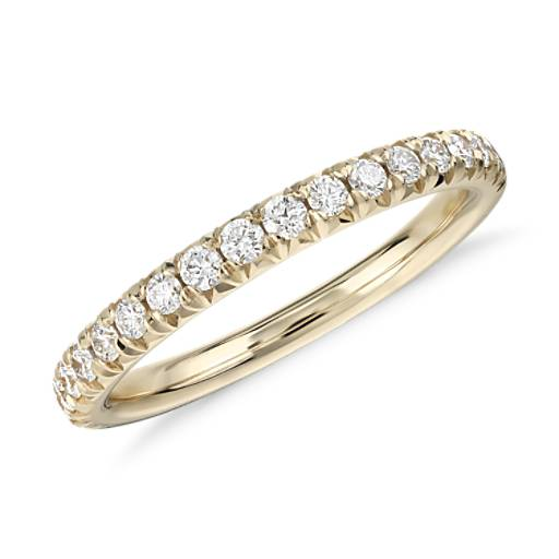 NEW French Pavé Diamond Ring in 14k Yellow Gold (1/4 ct. tw.)