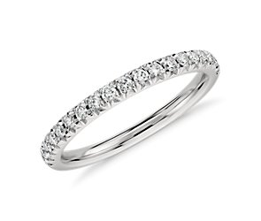 French Pavé Diamond Ring in Platinum (.25 ct. tw.)