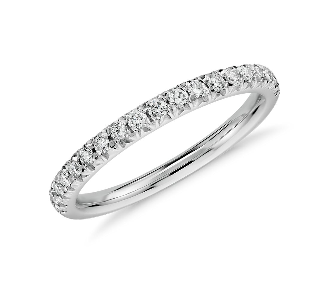French Pavé Diamond Ring in 14K White Gold (1/4 ct. tw.)