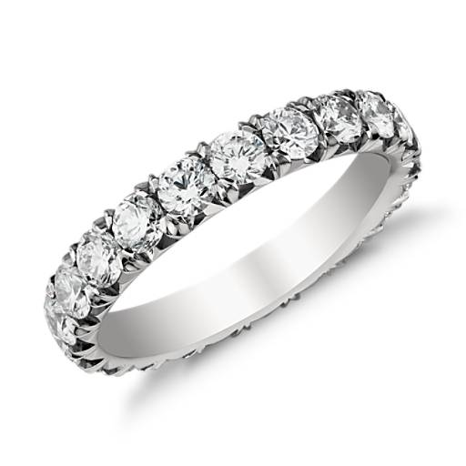 French Pave Diamond Eternity Ring in Platinum (2 ct. tw.)