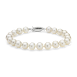 Freshwater Cultured Pearl Bracelet in 14k White Gold (7.0-7.5mm)