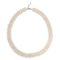 Freshwater Cultured Pearl Collar Necklace with Sterling Silver