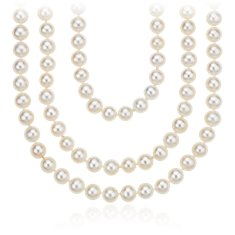 "Freshwater Cultured Pearl Necklace (100"")"