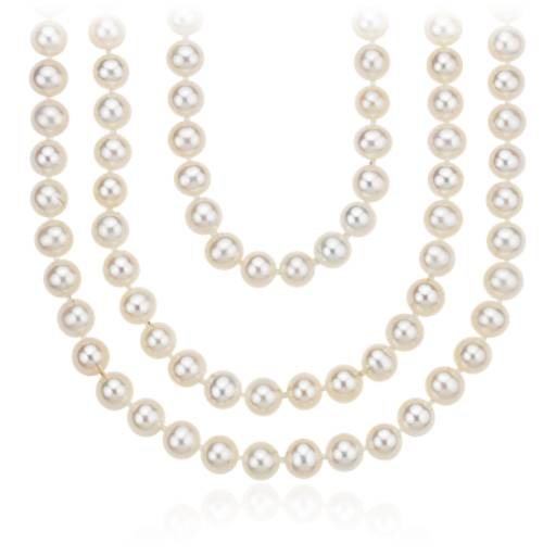 "Freshwater Cultured Pearl Wrap-Around Necklace - 100"" Long"