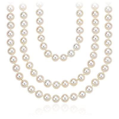 "Freshwater Cultured Pearl Wrap-Around Necklace - 100"" Long (6mm)"