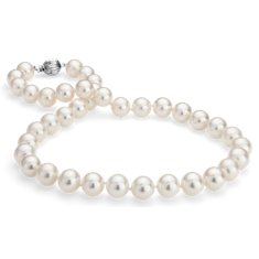 Freshwater Cultured Pearl Necklace in 14k White Gold (10.5—11.3mm)