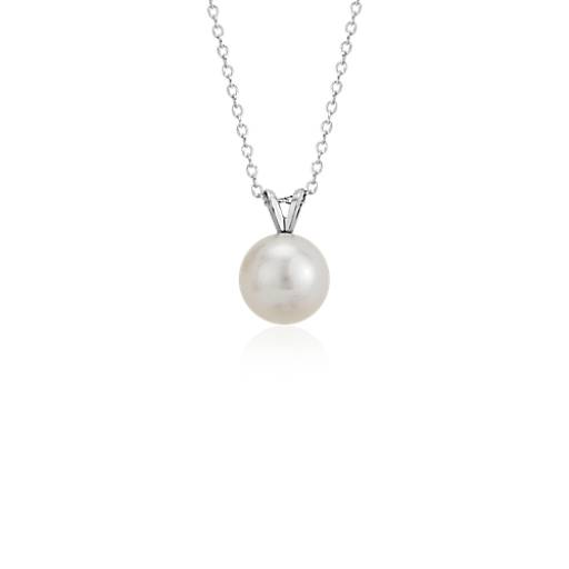 Freshwater Cultured Pearl Pendant in 14k White Gold (8.0-8.5mm)
