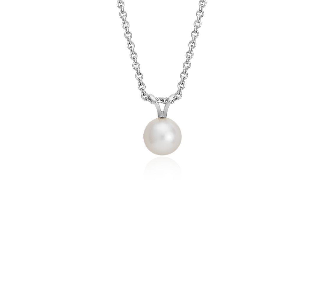 Freshwater Cultured Pearl Pendant with Sterling Silver (7.0-7.5mm)